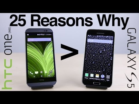 25 Reasons Why HTC One (M8) Is Better Than Galaxy S5