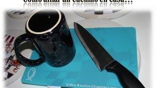 Como afilar un cuchillo en casa