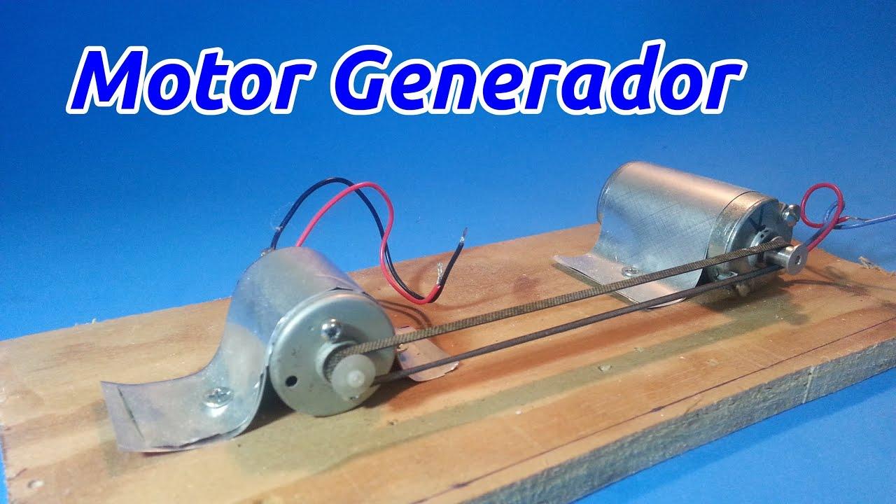 Motor generador el ctrico youtube - Generador de corriente ...