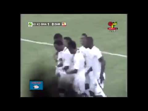 Kwadwo Asamoah Akayida and Azonto Dance Goal Celeberation Ghana vs Zambia Match