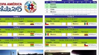 Fixture En Excel COPA AMERICA 2015