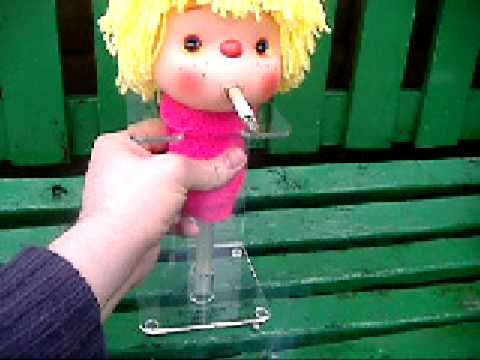 smokey sue cigarette smoking doll