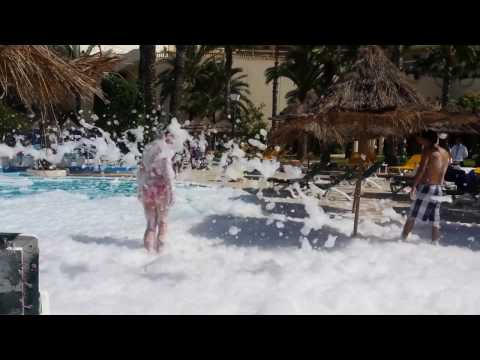ANIMATION IN TUNISIA @ hotel riadh palm sousse foam party