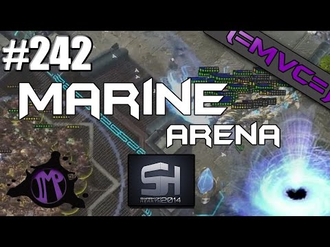 Starcraft 2 Arcade Games: Marine Arena - SoH 3 Part 1