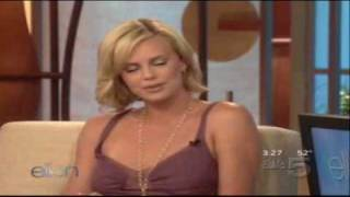 Charlize Theron on Ellen 10-19-05 part 2