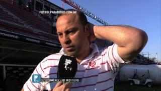 """Jiménez: """"Me voy conforme"""". Estudiantes BA 1- Instituto 0. Copa Argentina 2014. 8vos. FPT"""
