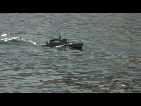 RC boat , RC ship , One Dollar Fleet No.21  in AKIKAWA riv