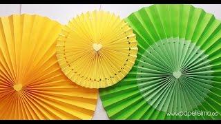 Cómo hacer rosetones de papel para decorar fiestas