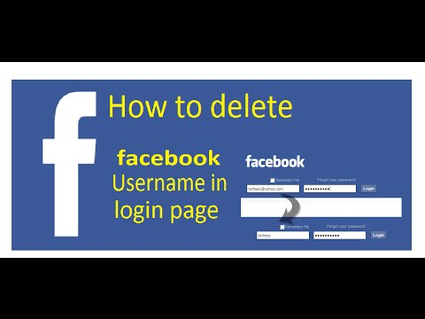 How to delete facebook username from the login page