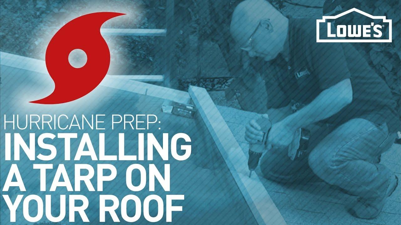 How To Tarp A Roof Hurricane Preparedness Youtube