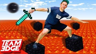 Minecraft Floor Is Lava Challenge!!