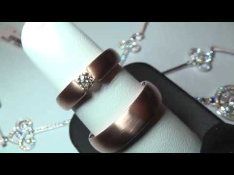 Rose gold diamond wedding bands | Best men's gold wedding rings