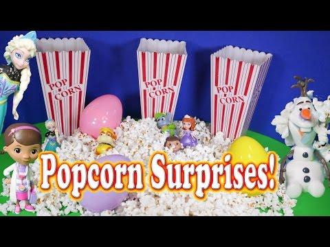 SURPRISE EGG Popcorn Surprise Egg Elsa Frozen Disney Junior