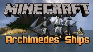 Minecraft Mod: ARCHIMEDES' SHIPS Make Your Own Boats