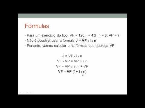 Aula 1 de Matemática Financeira: Juros simples