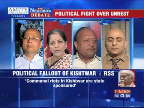 The Newshour Debate: Quoting Gujarat to defend Kishtwar - Part 1