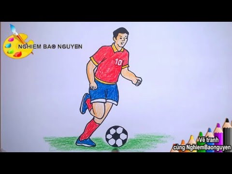 Vẽ Cầu thủ bóng đá/How to draw Football player