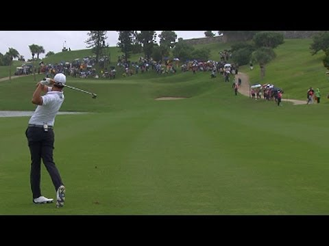 Adam Scott's eagle on No. 17 at 2013 PGA Grand Slam of Golf