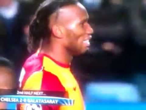 Didier Drogba Freekick Pin-point at Sign