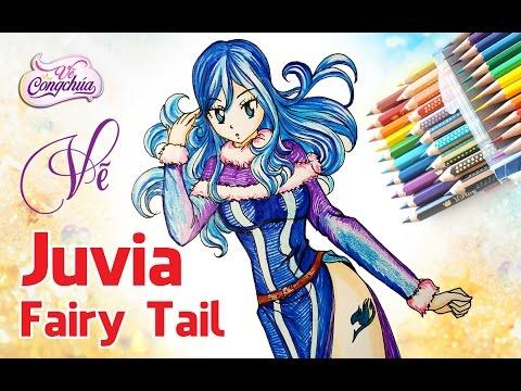 Cách vẽ nhân vật hoạt hình anime Juvia trong phim hoạt hình Fairy Tail