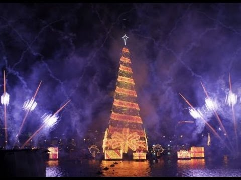 Brazil Illuminates World's  Largest Floating Christmas Tree