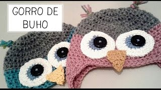 Gorro De Buho A Crochet Tallas De 0 A 2 Años Parte 1