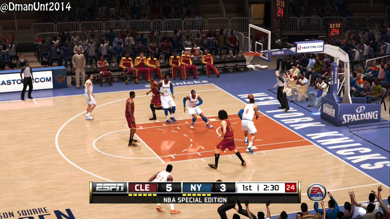 ps4 nba live 14 5v5 playstion 4 gameplay new knicks vs