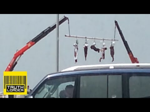 Saudi Arabia executes five men and hangs their bodies from a crane - Truthloader