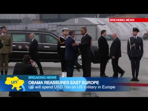Obama reassures East Europe: US President Barack Obama arrives in Poland