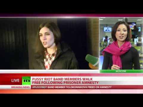 Pussy Riot band members Tolokonnikova and Alyokhina released in amnesty