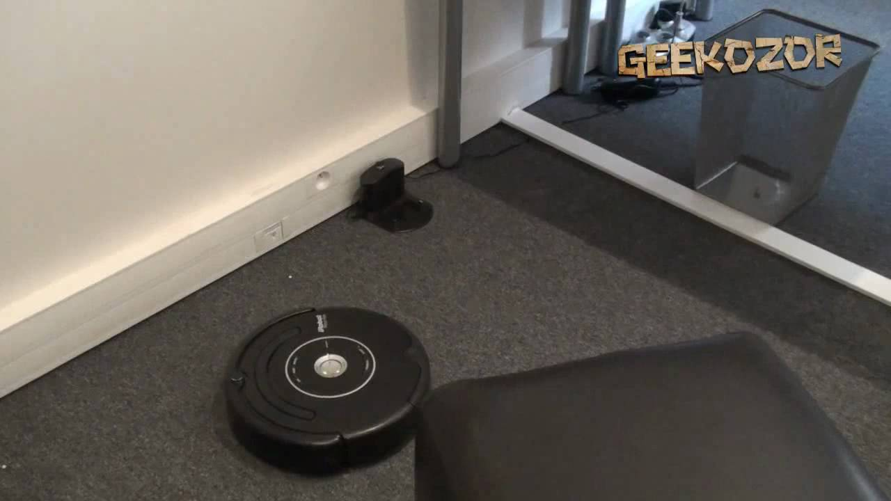irobot roomba 581 test et d monstration vid o du robot aspirateur youtube. Black Bedroom Furniture Sets. Home Design Ideas