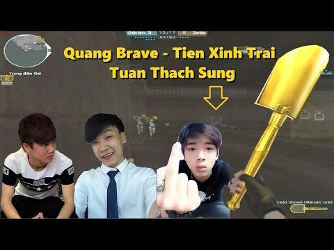 [ Bình luận CF ] Xẻng Gold đập Zombie cùng Quang Brave , Tiến Xinh Trai và Tuấn Thạch Sùng