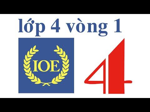 IOE Olympic Tiếng Anh lớp 4 vòng 1 năm 2014-2015