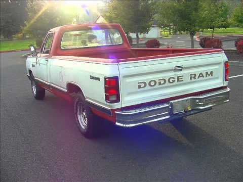 1982 dodge custom 150 ram long bed pickup economical good driver