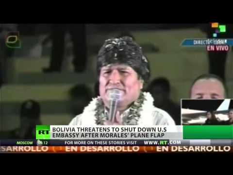 Bolivian president threatens to close US embassy image