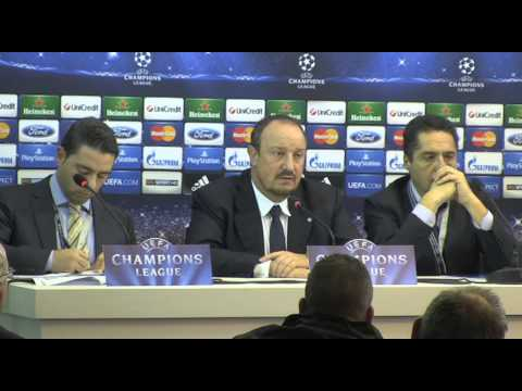 Rafael Benitez after Arsenal v Napoli - 12 12 2013