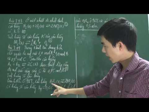[Hóa đại cương - ĐH Bách khoa TPHCM]: Tính hằng số cân bằng của phản ứng