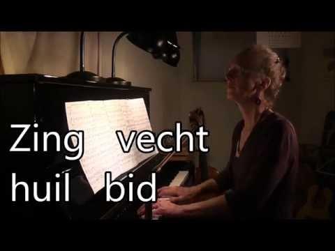 Zing, vecht, huil, bid, Grada Gootjes, karaoke pianobegeleiding met ondertiteling-live