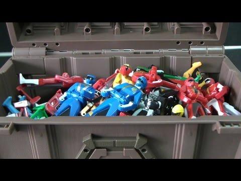 đồ chơi siêu nhân hải tặc Power Rangers Super Megaforce Toys 파워레인저 캡틴포스 레인저키 보물상자 장난감