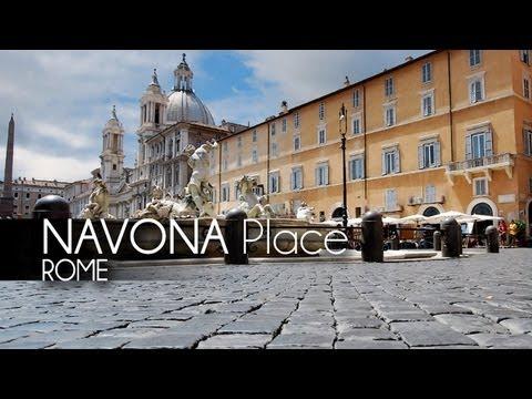 [HD] Piazza NAVONA - Fontane (Roma - Italia)