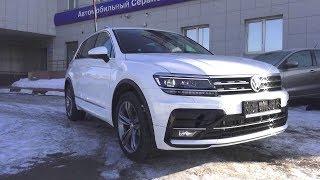 2018 Volkswagen Tiguan Sportline 220hp 2.0 TSI DSG 4Motion. Start Up, Engine, and In Depth Tour.. MegaRetr