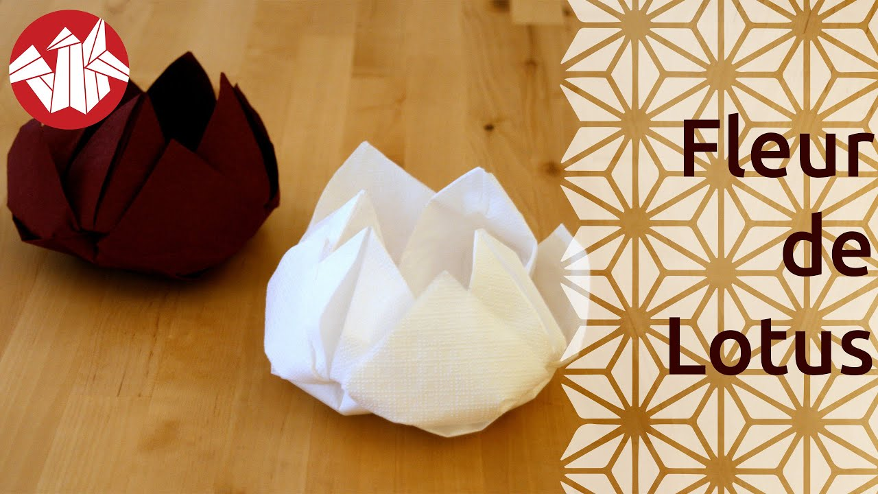 Origami  Fleur de lotus  Lotus Flower  YouTube