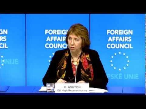 Catherine ASHTON following the Foreign Affairs Council, 10th February
