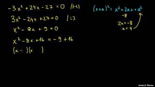 Dopolnjevanje do popolnega kvadrata 3