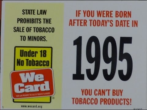 Tobacco Smoking Cigarette Legal Age in USA  ~ What was Your Year? ~ Liquor Store & Test Drive