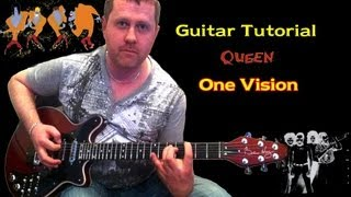 How To Play Queen One Vision Guitar Lesson