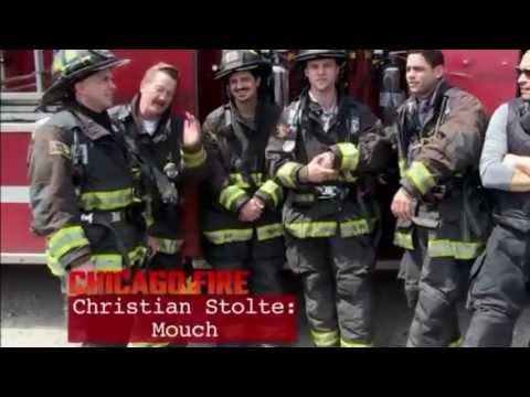 'Chicago Fire Cast ' on the set
