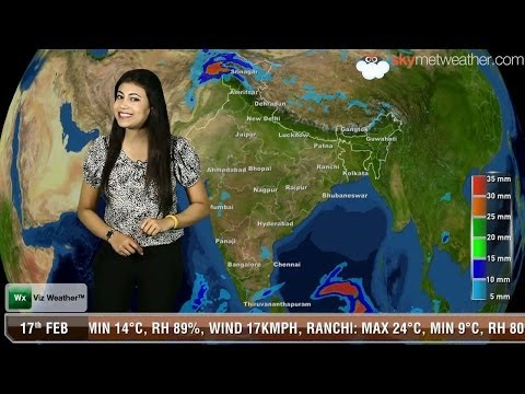 17/02/14 - Skymet Weather Report for India