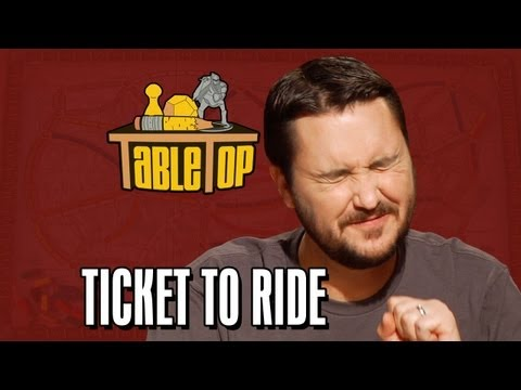 Ticket to Ride: Wil Wheaton, Colin Ferguson, Anne Wheaton, and Amy Dallen. TableTop ep. 4