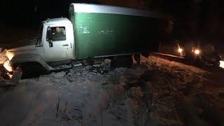 УАЗ Патриот вытаскивает грузовик Садко. Стрим Костя Академик.